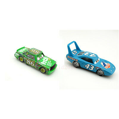Original 1:55 Disney Pixar Diecast Cars The King&Chick Hicks Metal Car