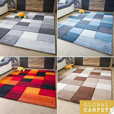 New Modern Rug Botiga Square Design Colourful Soft Quality Mats Small Large