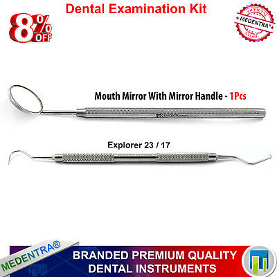 Mirror  with Dental Mouth Mirror Handle and Composite Instrument Burnisher