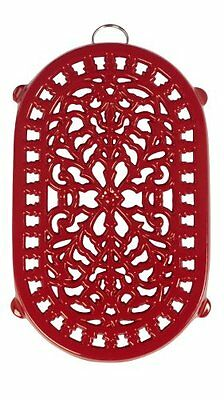 Cast Iron Trivet Old Dutch Oblong Red 9.75x6 Inch Quality Traditional Design New