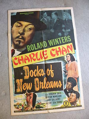 CHARLIE CHAN in THE DOCK OF NEW ORLEANS Poster 27X41 Roland W. Movie #48/798