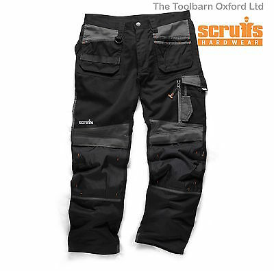 SCRUFFS Trade 3d Work Trousers WaIst 30-40 Leg 31 33  Black