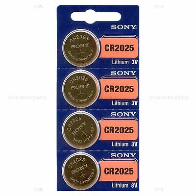 4 NEW SONY CR2025 3V Lithium Coin Battery Expire 2027 FRESHLY NEW - USA Seller