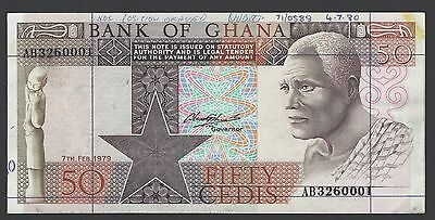 Ghana 50 Cedis 7-2-1979 P22a Specimen Proof About Uncirculated