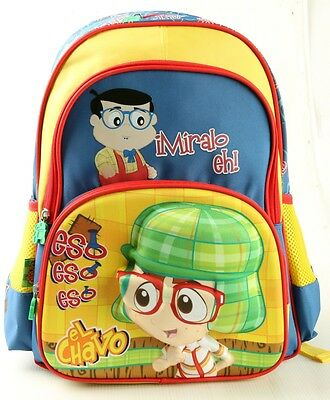 "New El Chavo iMiralo eh!! 16"" Kids LARGE SCHOOL Backpack - Yellow & Blue"