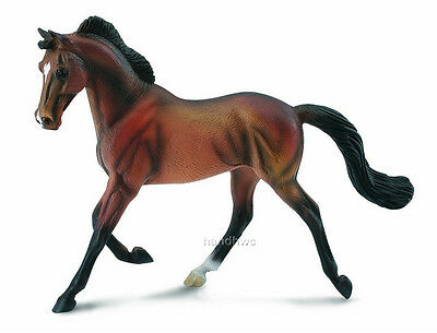CollectA 88477 Bay Thoroughbred Mare Beautiful Model Horse Toy Racehorse - NIP