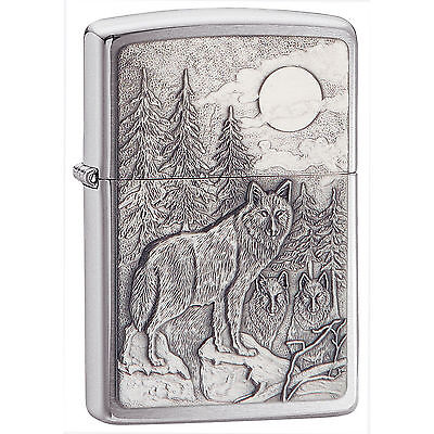 Zippo Windproof Chrome Lighter With Timberwolves Emblem, # 20855, New In Box