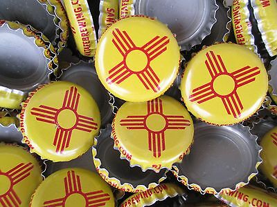100 ( Sante Fe Brewing ) beer bottle Caps (No Dents). Free S&H