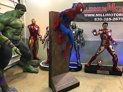 Life Size Amazing Spiderman 2 With Background Wall SUPER RARE Spidey 1:1 Prop