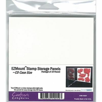 Crafter's Companion -  EZMount Stamp Storage Panels 10/Pkg - CD Case Size