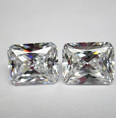 Cubic Zirconia Crystal Clear White Octagon AA CZ Loose Stones (6x4mm - 18x13mm)