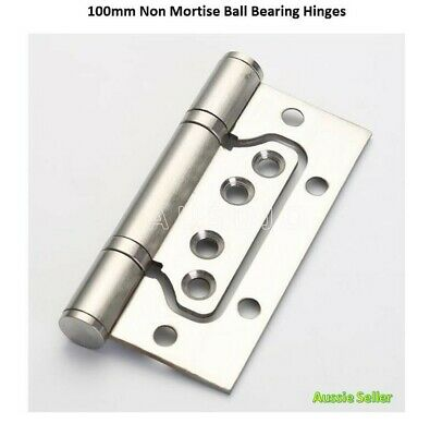 """Non Mortise Mortice Stainless Steel 100mmX75mm/4""""X3"""" Butt Door Hinges Fixed Pin"""