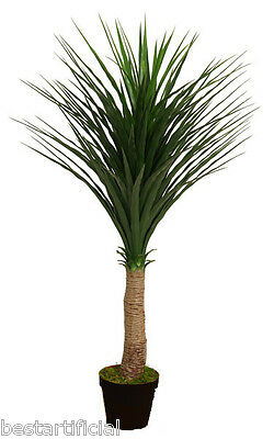Best Artificial 120cm 4ft Single Yucca Plant Tropical Palm Tree Conservatory