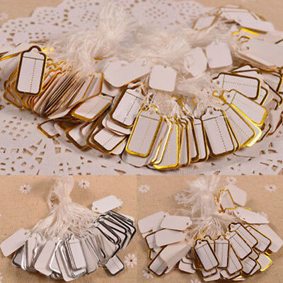 500pcs Price Tags Tie String Strung Tickets Jewelry Watch Cloth Display Labels