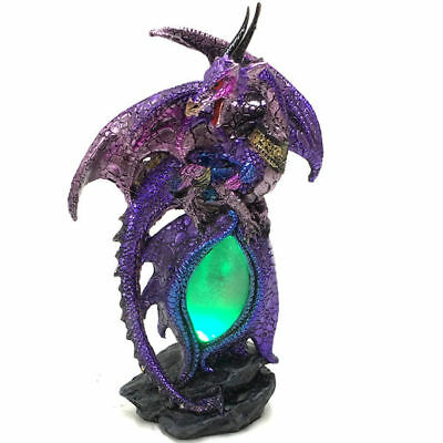 Dragon Egg Ornament Statue Light LED Lamp Figurine Sculpture Art Blue Green 3298