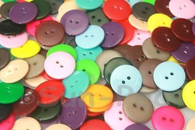 15mm/18mm Standard Round Button Plastic 2 holes sewing scrapbooking crafts DIY
