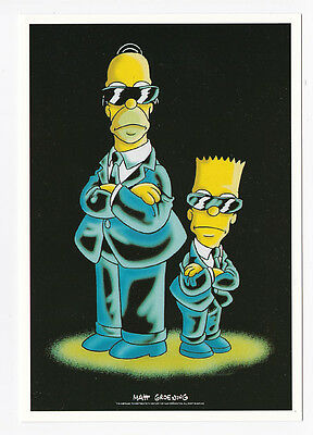 SIMPSONS carte postale   POSTCARD