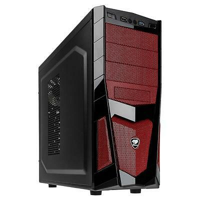 Cougar Volant 2 Midi-Tower COUGARVOLANT26 Gaming PC Gehäuse rot ATX ITX