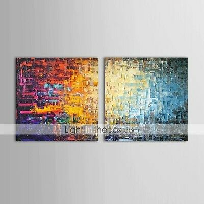 CANVA PAINTING Abstract HOME DECOR Color Bricks Oil Painting Wall Art
