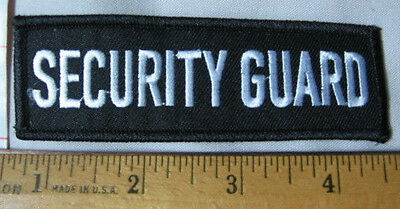NEW 'SECURITY GUARD' crest/patch white on black