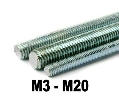 Threaded Bar Screwed Rod Metric Studding Bar M3 to M20 Various Lengths