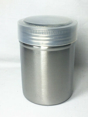 LARGE Stainless Steel Chocolate Cocoa Flour Shaker Icing Sugar Powder with Lid