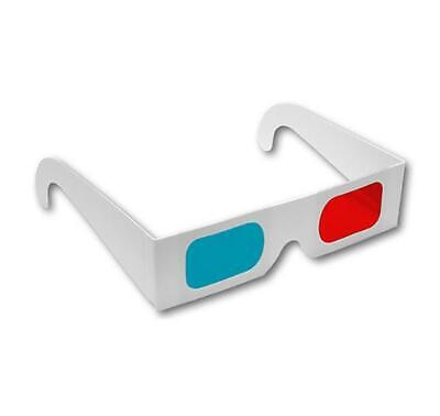 ASVP Shop® 3D Glasses Made from Paper in White with Red and Blue/Cyan Lenses