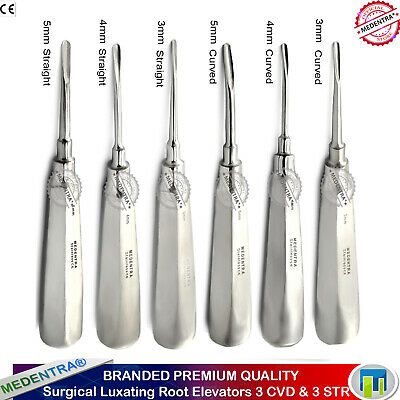 Luxation Instruments Teeth Extraction Elevator Set of 6 Tooth Loosening Tools CE