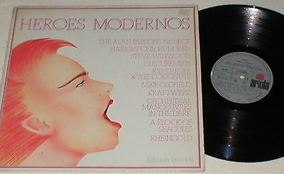 Heroes Modernos Spain Lp 1982 Mike Oldfield Kraftwerk Rheingold Culture Club Omd