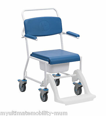 Uppingham Mobile Commode Shower Chair Mobility Disability Aid 172
