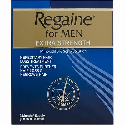 Regaine For Men Hair Loss Treatment Extra Strength 5% 3x60ml Solution FREE POST