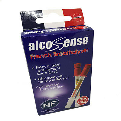 Alcosense TWIN PACK - French NF Approved Breathalyser For Driving In France