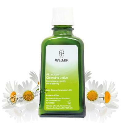 Weleda Organic Aknedoron Cleansing Lotion 100ml NEW Problem/Combination Skin