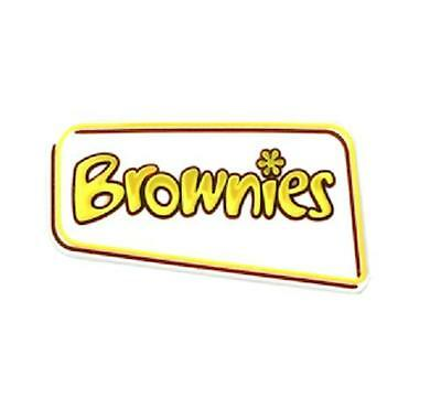 Brownie Logo All Purpose Pin Badge Plastic Can Hold Sash Brownie Uniform New