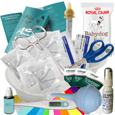 Build Your Own Whelping Kit © Puppy Kitten Cord Clamps Lifeline Iodine Feed Tube