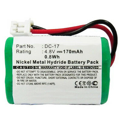 170mAh DC-17 MH120AAAL4GC Battery for SportDog 400 SD-400 800 SD-800 Receivers
