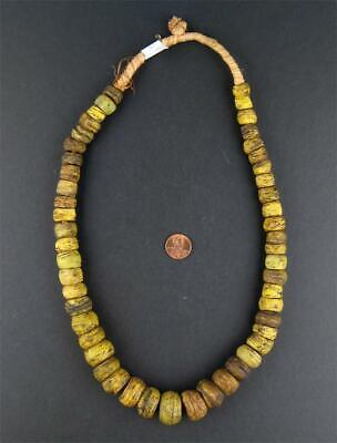 African Antique Yellow Hebron Kano Beads (One of a Kind) Sudan