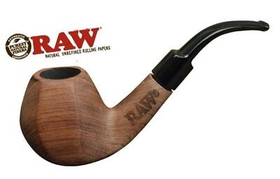 RAW Brand Uncoated Wooden Natural Smoking Pipe with Pouch(New product from Raw)