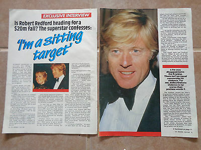 Robert Redford_MAGAZINE CLIPPINGS_ships from AUS!_14o