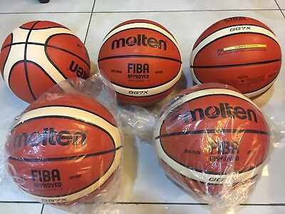 100% Authentic MOLTEN GG7 X (BGG7x) Basketball FIBA Composite Leather 2015 New