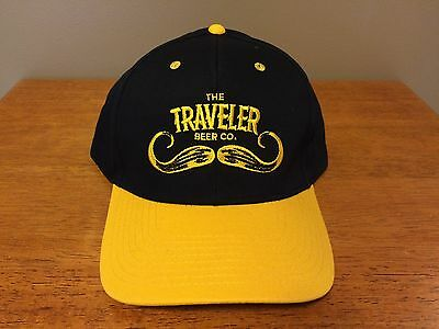 New Curious Traveler Shandy Beer Snap Black Hat Bar Yellow Mustache