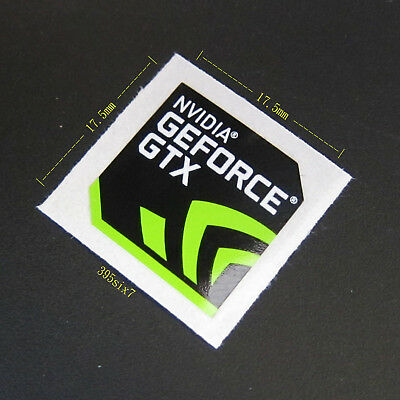 NVIDIA GEFORCE GTX Sticker 17.5mm x 17.5mm