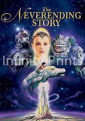 The Neverending Story Movie Film Poster A3 A4
