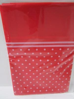 RED polka dot spot plastic tablecloth table cover cloth birthday party