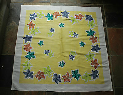 Vintage Mid Century Tablecloth - Retro Cotton Tablecloth - 1950s - 1960s