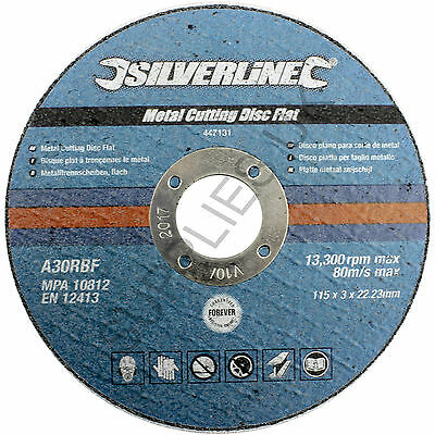 Metal Cutting Discs, Flat, Angle Grinder, 115mm x 3mm, Steel, Grinding, Slitting