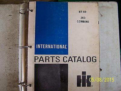 International  203 Combine Parts Manual