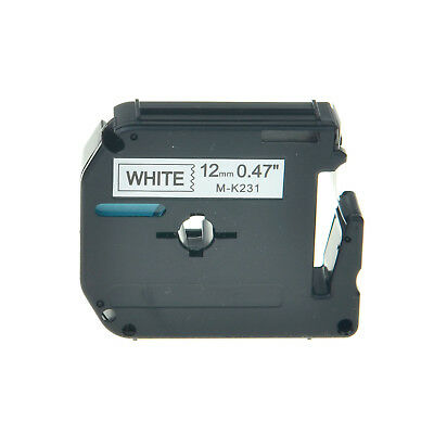 Compatible for Brother P-touch Label M-K231 MK231 Black/White Tape 26.2Ft 1/2""