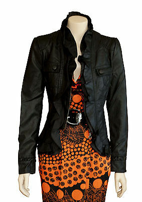 Caroline Morgan  Black  Leather Look  Jacket  SIZE 10   BRAND NEW