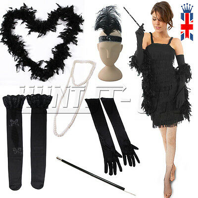 Ladies Fancy Dress Accessories Flapper 20S Theme Charleston Costume Gatsby Girl